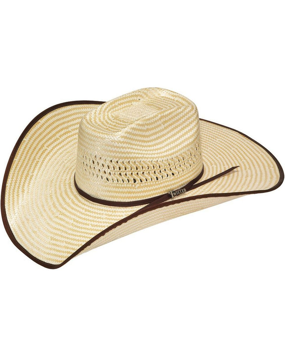 Twister Houston Bound Edge Poly Rope Straw Cowboy Hat, Natural, hi-res