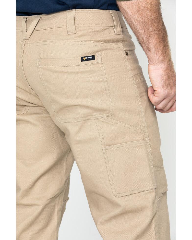 Hawx Men's Stretch Canvas Utility Work Pants - Big , Beige/khaki, hi-res