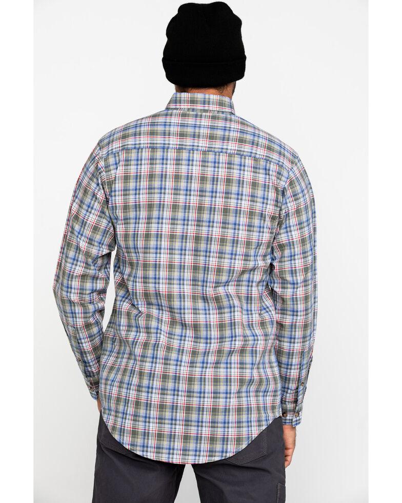Wrangler Riggs Men's Khaki Plaid Long Sleeve Work Shirt - Big , Beige/khaki, hi-res