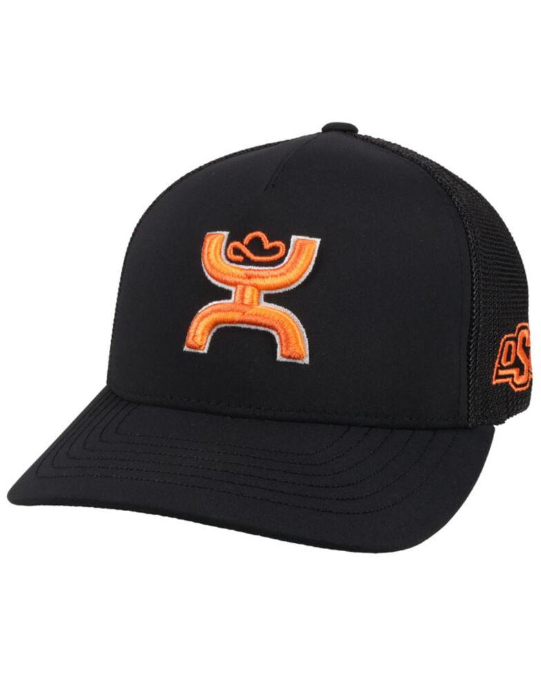 HOOey Men's OSU Logo Flex Fit Mesh Ball Cap, Black, hi-res