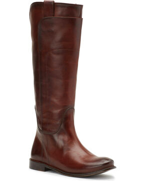 Frye Women's Redwood Paige Tall Riding Boots - Round Toe , Red, hi-res