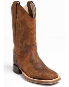 Cody James Youth Boys' Full-Grain Leather Western Boots - Square Toe, Brown, hi-res