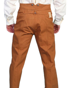 Wahmaker by Scully Canvas Saddle Seat Pants, Brown, hi-res