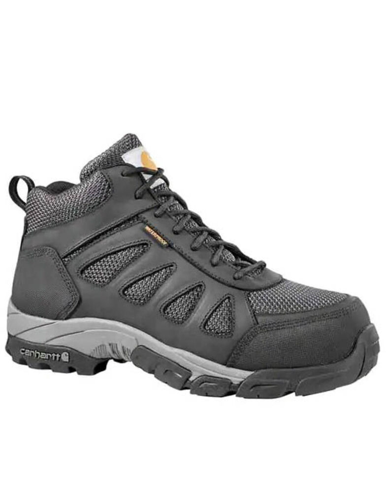 Carhartt Men's Black Lightweight Hiker Work Boots - Carbon Safety Toe, Black, hi-res