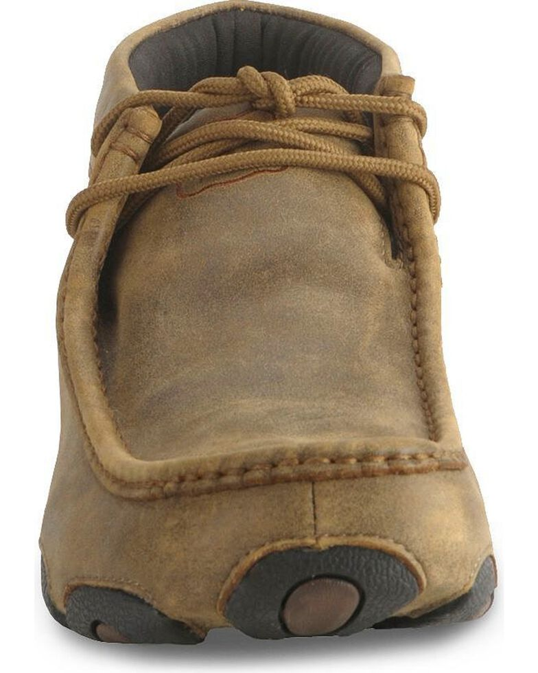 Twisted X Bomber Leather Lace Up Driving Moccasins, Distressed, hi-res