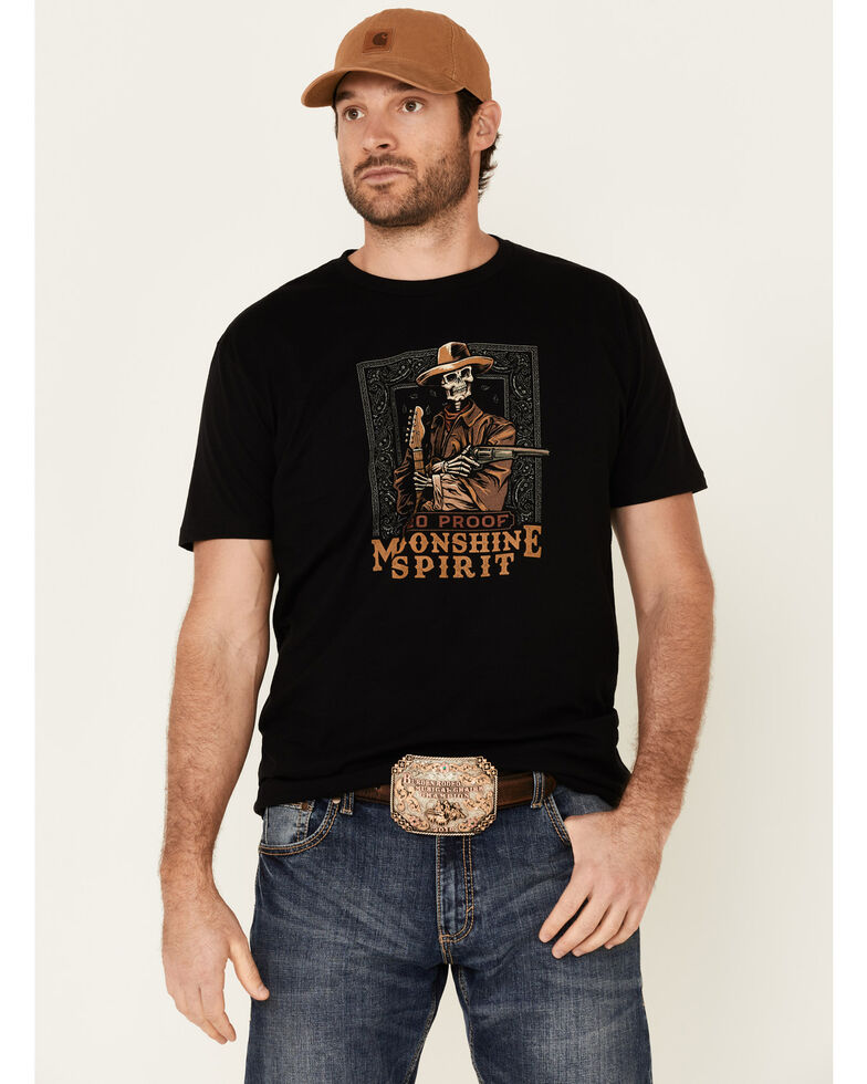 Moonshine Spirit Men's Outlaw Graphic Short Sleeve T-Shirt , Black, hi-res