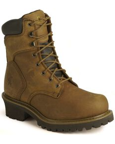 Chippewa Men's Steel Toe Insulated Logger Work Boots, Bark, hi-res