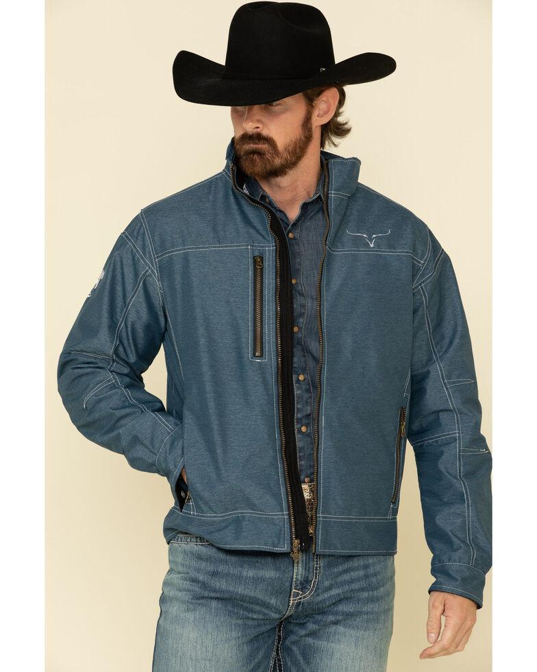 Cowboy Hardware Men's Navy Tech Woodsman Jacket , Navy, hi-res