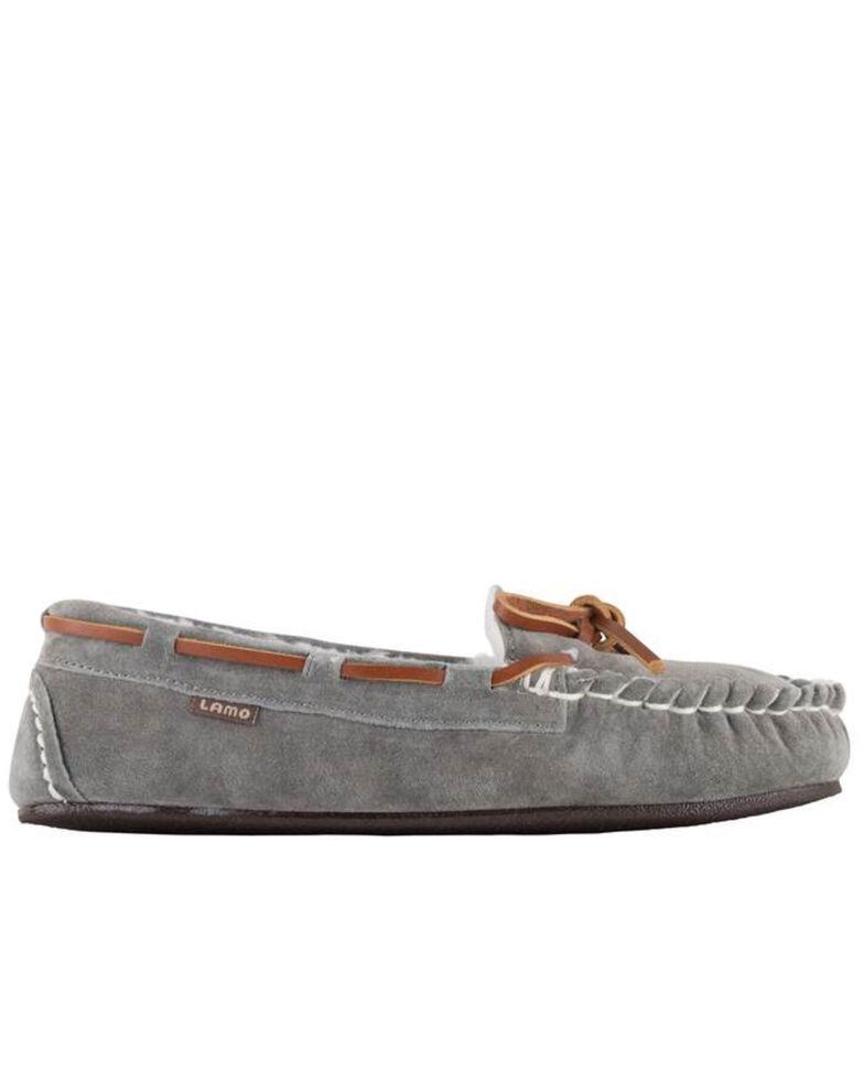Lamo Footwear Women's Grey Britain Moc II Wide Slippers - Moc Toe, Grey, hi-res