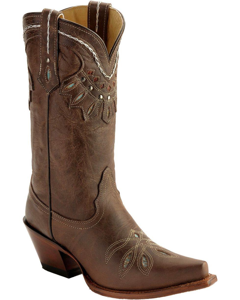 Tony Lama 100% Vaquero Rancho Western Boots, Chocolate, hi-res