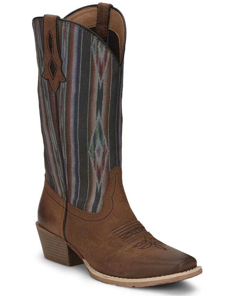 Justin Women's Siesta Western Boots, Tan, hi-res