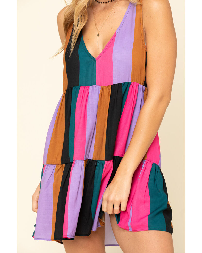 Show Me Your Mumu Women's Mezcal Stripe Emme Tank Dress, Multi, hi-res
