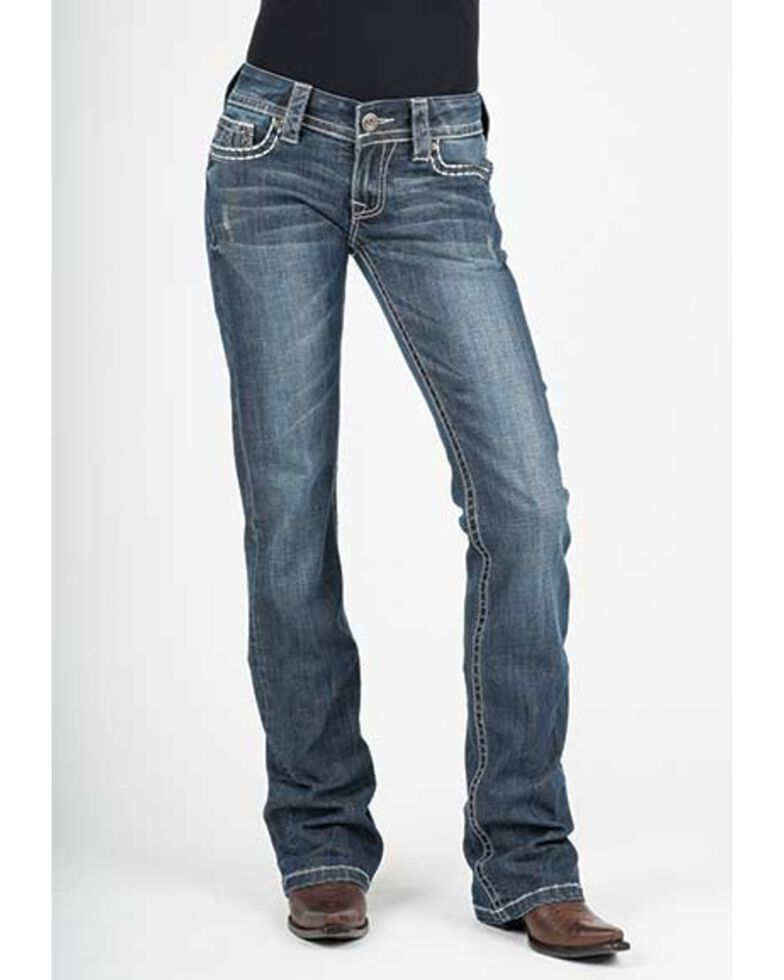 Stetson Women's Hollywood Boot Cut Jeans, Blue, hi-res