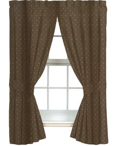 Blue Ridge Trading Whitetail Dreams Rod Pocket Curtains, Brown, hi-res