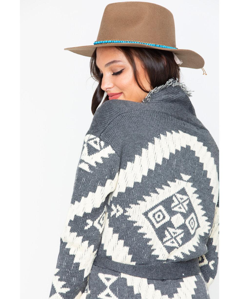 Miss Me Women's Aztec Fringe Cardigan, , hi-res