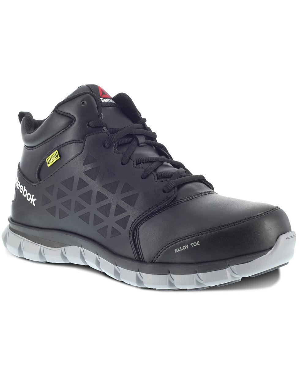 Reebok Men's Sublite Met Guard Work Boots - Alloy Toe, Black, hi-res