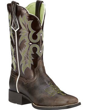 Ariat Women's Tombstone Western Boots, Brown, hi-res