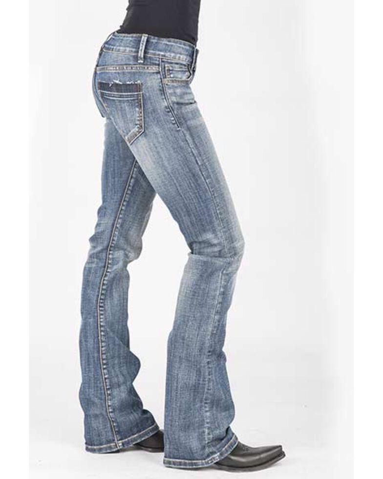 Stetson Women's 818 Contemporary Medium Bootcut Jeans, Blue, hi-res