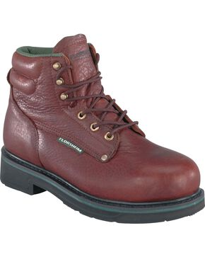 "Florsheim Men's Utility Steel Toe 6"" Work Boots, Brown, hi-res"