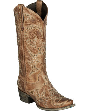 Lane Women's Lovesick Stud Western Fashion Boots, Brown, hi-res