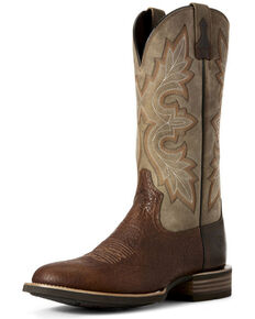 Ariat Men's Quickdraw Lockwood Western Boots - Round Toe, Brown, hi-res