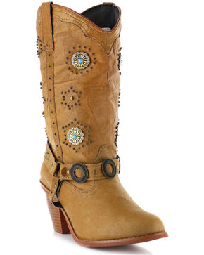 Dingo Women's Addie Fashion Boots, Chestnut, hi-res