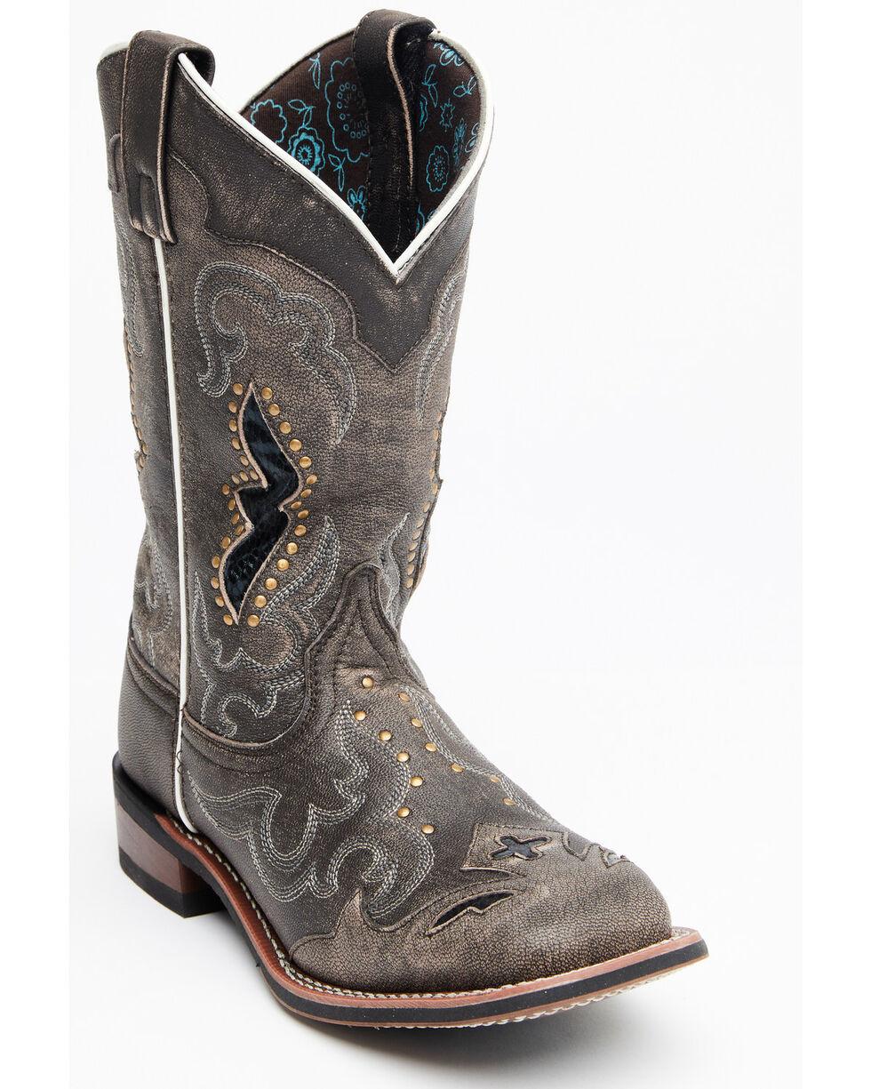 Women Size 8 12 Vintage Laredo Blue Roper Boots--90s women/'s fashion