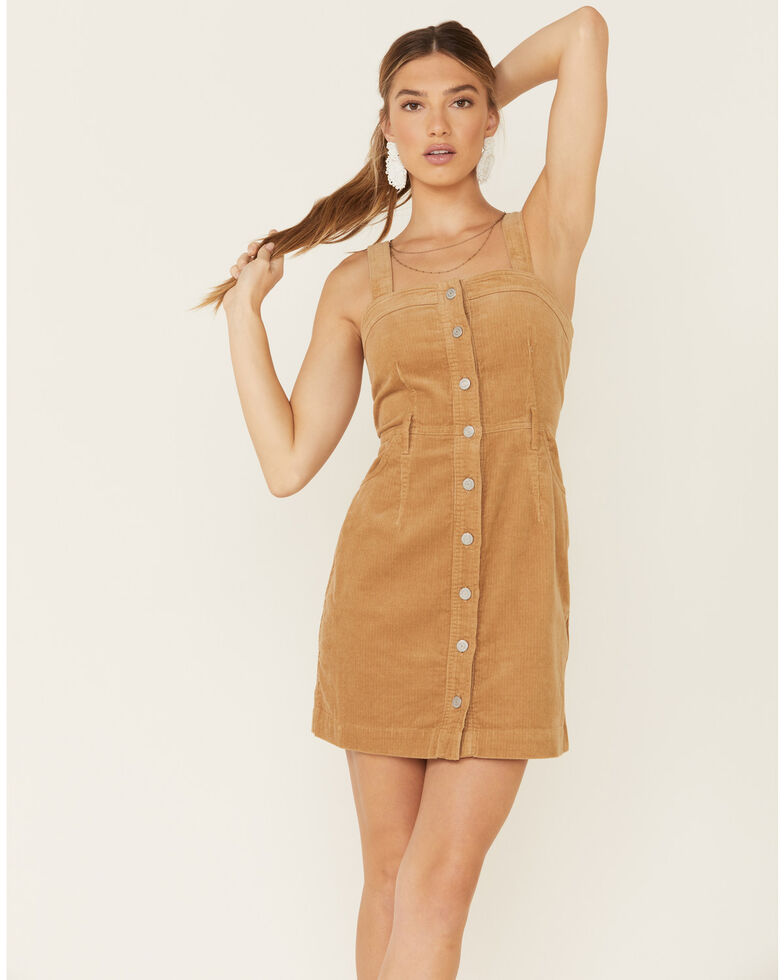 Levi's Women's Tan Corduroy Fiorella Dress , Coffee, hi-res