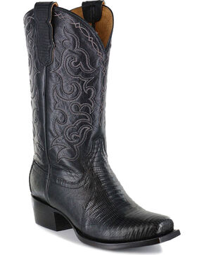 Moonshine Spirit® Men's Louisiana Teju Lizard Exotic Boot, Black, hi-res