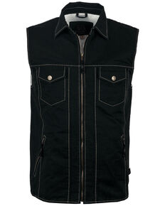 STS Ranchwear Boys' Youth Arena Twill Vest , Slate, hi-res