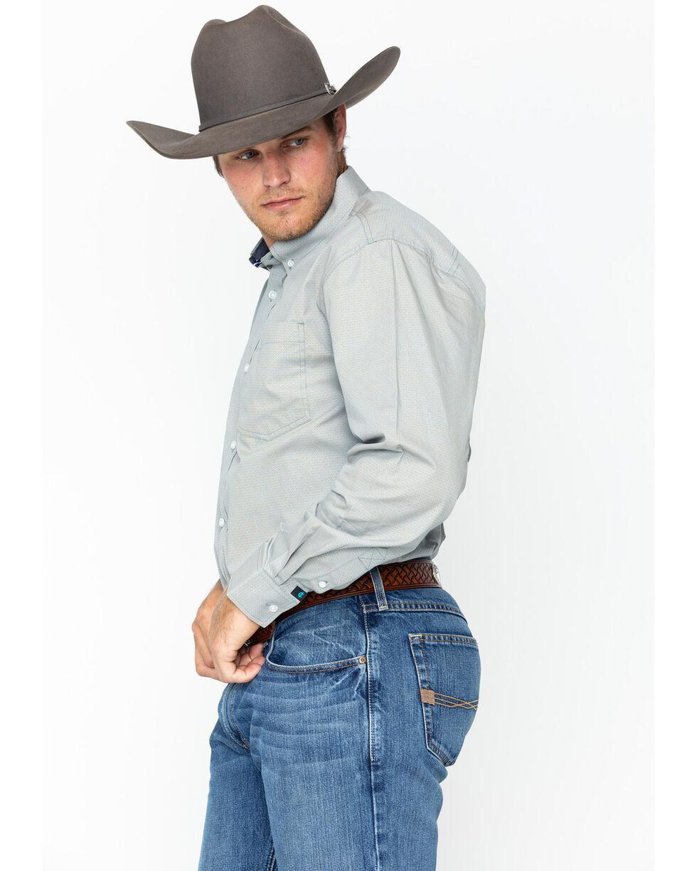 Cody James Men's Longsleeve Pocket Woven Collared Shirt , Blue/white, hi-res