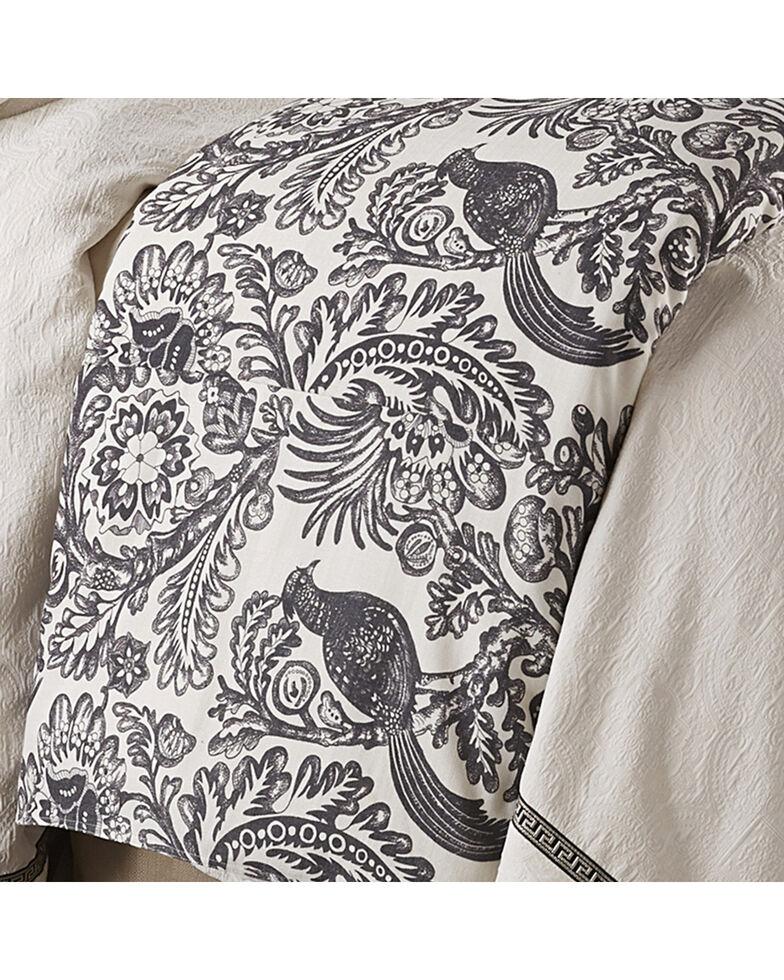 HiEnd Accents Augusta Toile Duvet - Super King , Black, hi-res