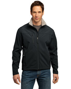 Port Authority Men's Glacier Soft Shell Jacket - Tall, Black, hi-res