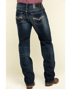 Rock & Roll Cowboy Men's Pistol Dark Reflex Stretch Straight Jeans , Blue, hi-res