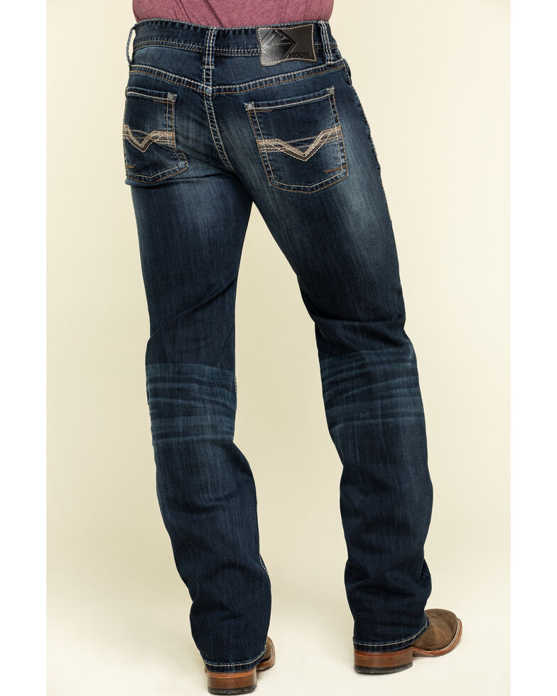 Rock & Roll Denim Men's Pistol Dark Reflex Stretch Straight Jeans , Blue, hi-res