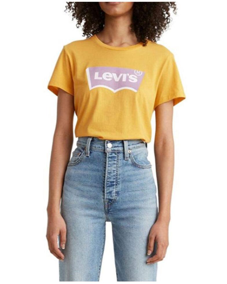 Levi's Women's Mustard Batwing Logo Graphic Tee, Dark Yellow, hi-res