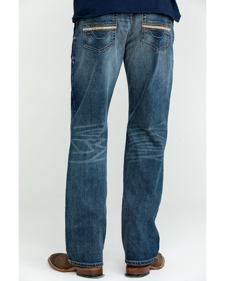 Ariat Men's Lennox Carter Low Stretch Bootcut Jeans - Big , Blue, hi-res