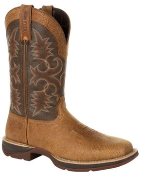 Durango Men's Marbled Tan Rebel Western Boots - Square Toe, Brown, hi-res