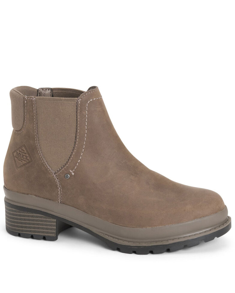 Muck Boots Women's Liberty Chelsea Boots - Round Toe, Taupe, hi-res