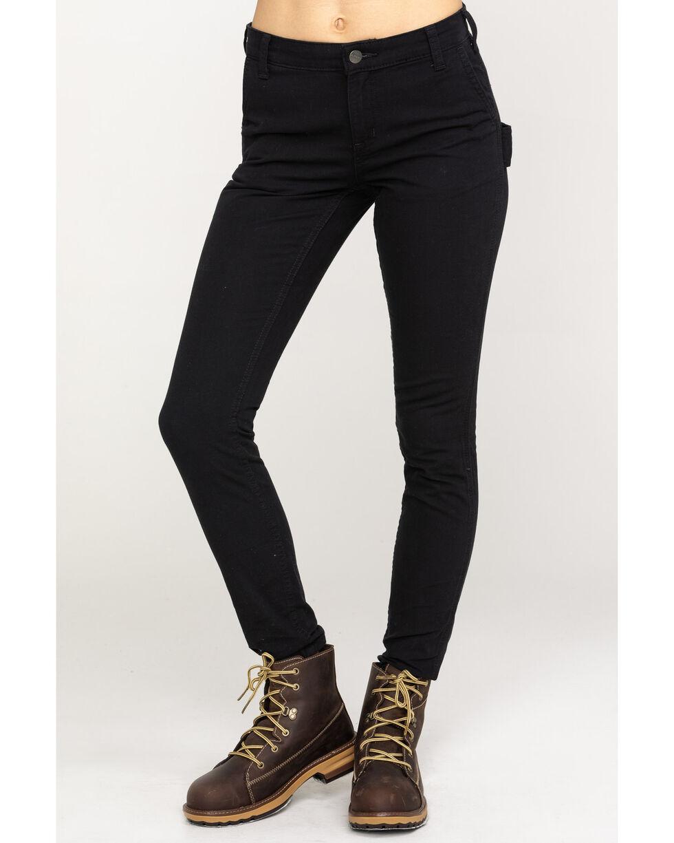 Carhartt Women's Slim-Fit Crawford Pants , Black, hi-res