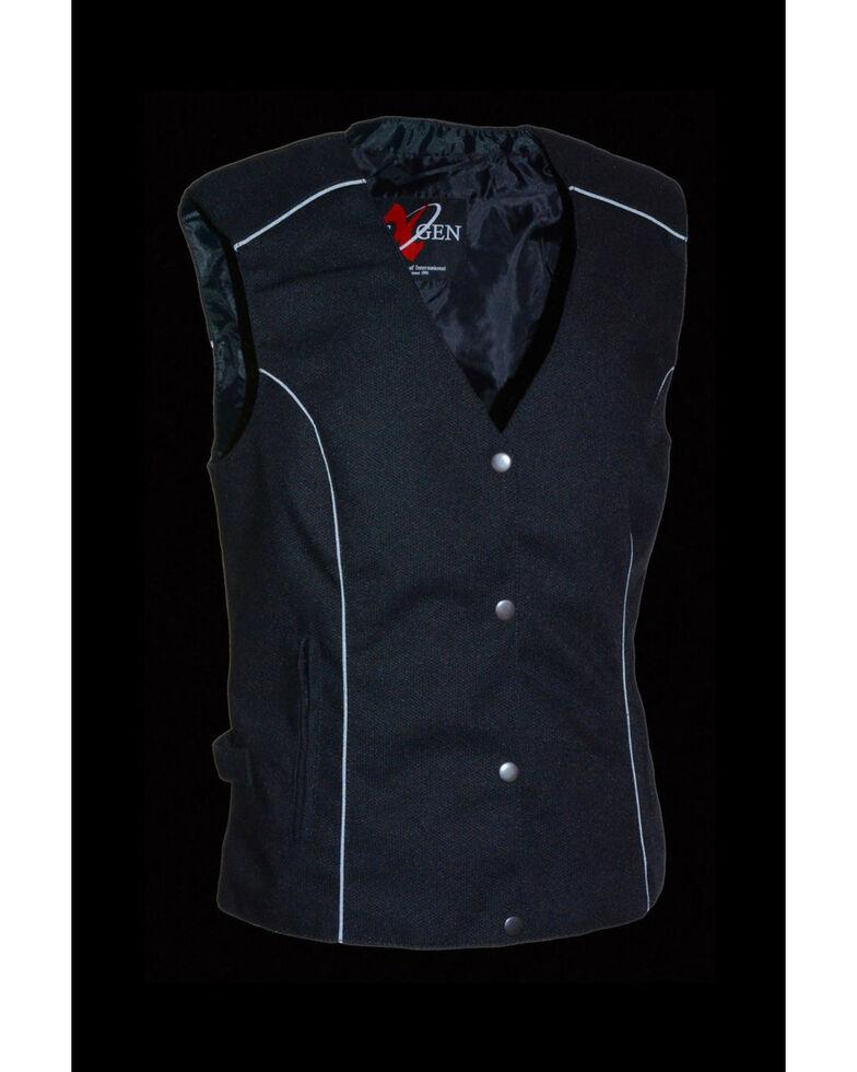 Milwaukee Leather Women's Textile Jacket w/ Stud & Wings Detailing, Pink/black, hi-res