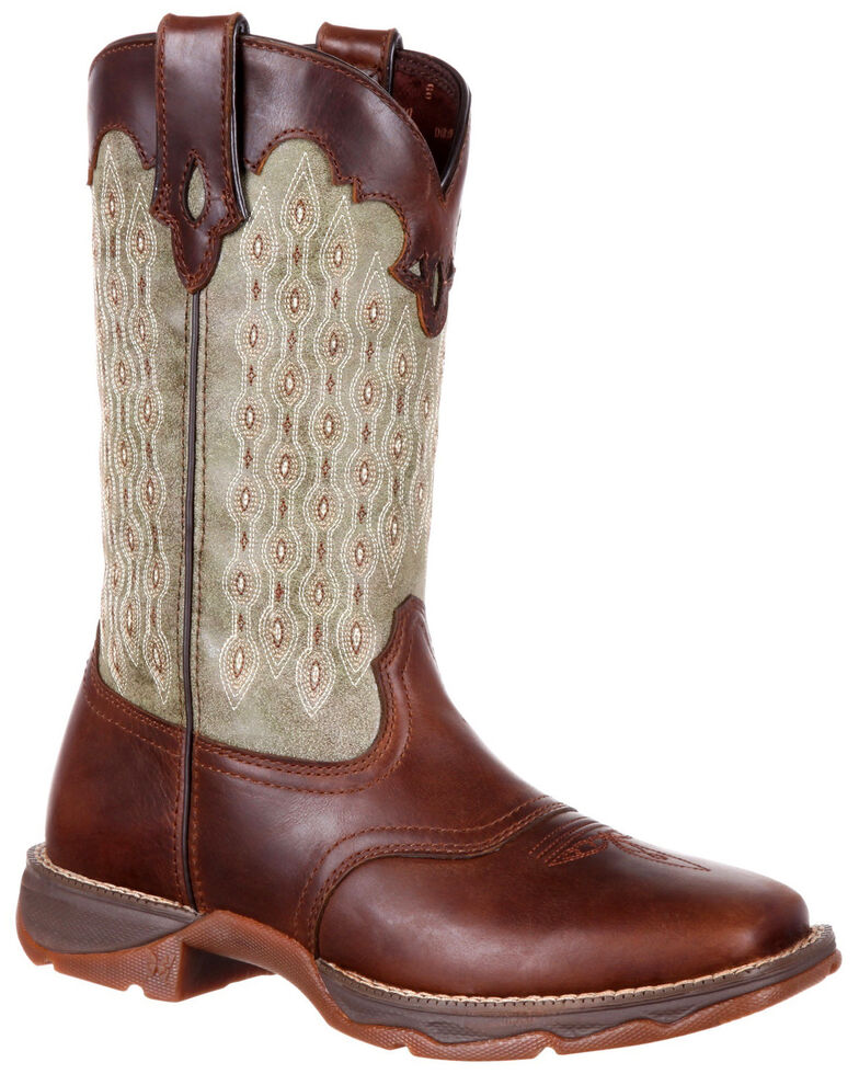Durango Women's Lady Rebel Saddle Western Boots - Square Toe, Chocolate, hi-res
