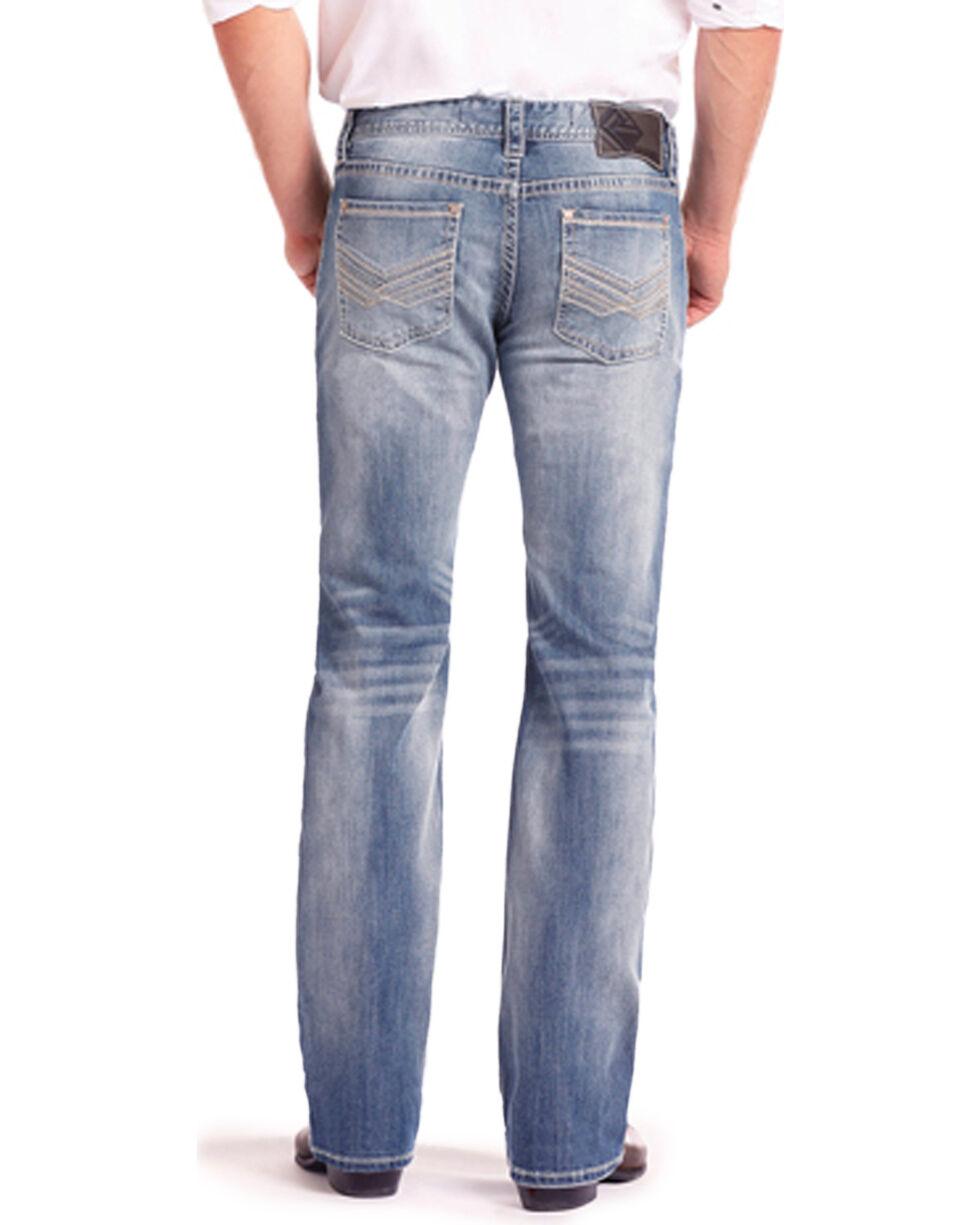 Rock & Roll Cowboy Men's Reflex Pistol Light Vintage Wash Jeans - Straight Leg, Light Blue, hi-res