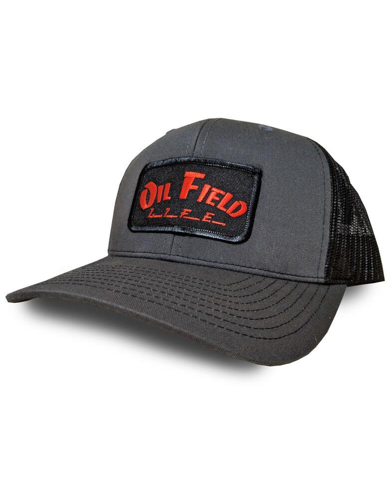 Oil Field Hats OFL Patch Ball Cap , Grey, hi-res