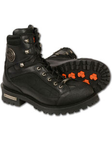 Milwaukee Leather Men's Gear Shift Protection Boots - Round Toe, Black, hi-res