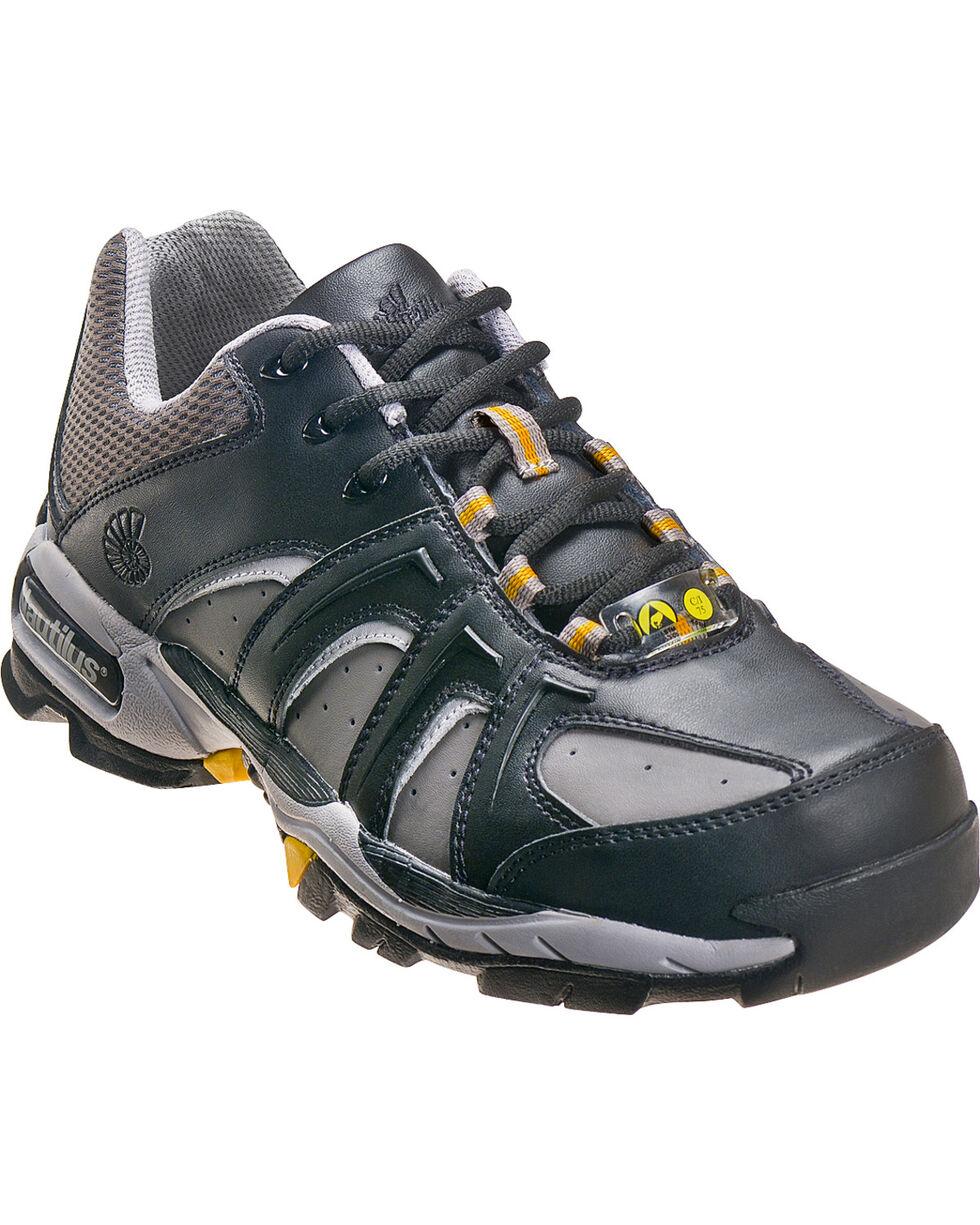 Nautilus Men's Steel Toe ESD Athletic Shoes, Black, hi-res