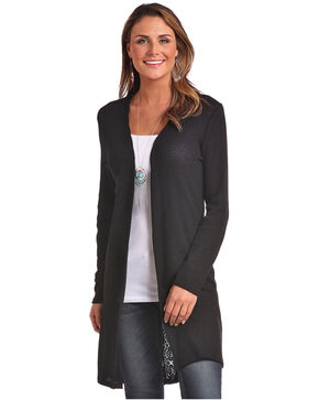 Panhandle Women's Lace Back Duster, Black, hi-res
