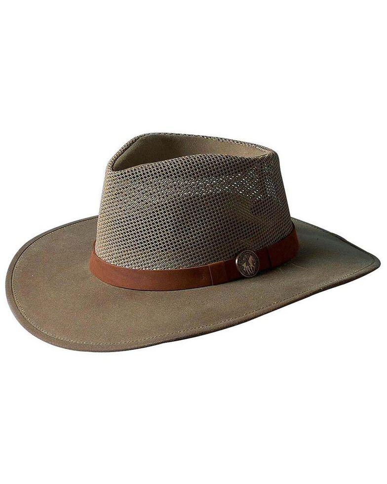Outback Unisex UPF Oilskin Mesh Kodiak Hat, Sage, hi-res