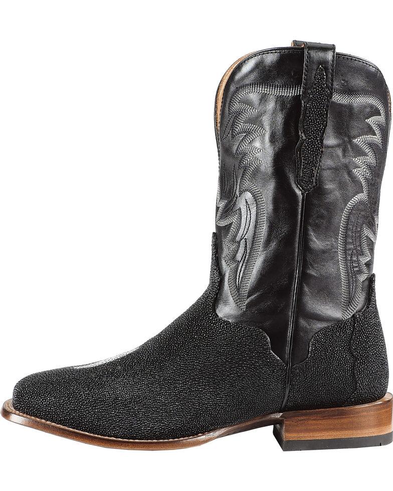 El Dorado Men's Handmade Stingray Stockman Boots - Square Toe, Black, hi-res