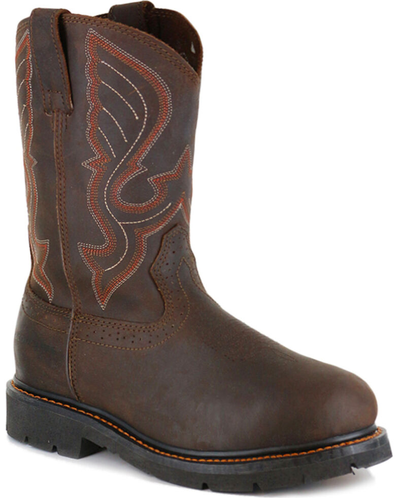 Cody James® Comp Toe Western Work Boots, Brown, hi-res